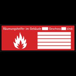 Räumungshelfer | Brandschutzschild B2B Schilder