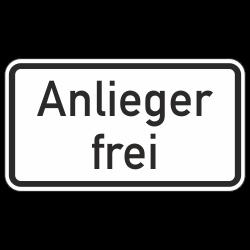 Anlieger frei StVO Zeichen...