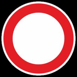 Verbot für Fahrzeuge aller Art