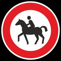 Verbot für Reiter