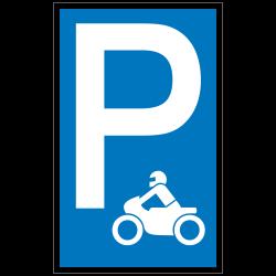 Symbol: P - Motorrad (Symbol) |Parkplatzzeichen 2B Schilder