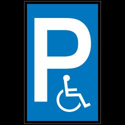 P mit Symbol Rollstuhlfahrer (Behinderten Parkplatz) |Parkplatzzeichen 2B Schilder