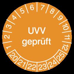 Prüfplakette UVV geprüft |...