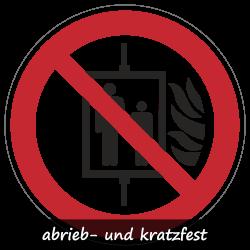 Aufzug im Brandfall nicht benutzen   Protect   Verbotszeichen B2B Schilder