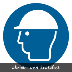 Kopfschutz benutzen   Protect  Gebotszeichen B2B Schilder