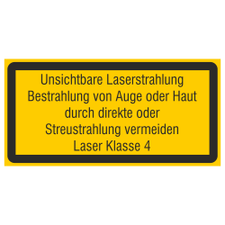 Unsichtbare Laserstrahlung...