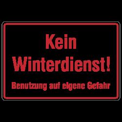 Kein Winterdienst! Aluminiumschild zur Betriebskennzeichnung | b2b-schilder