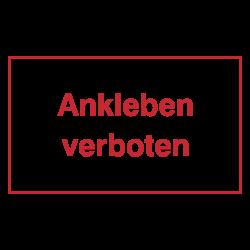 Ankleben verboten, wetterfester Aufkleber | b2b-schilder