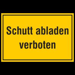 Schutt abladen verboten