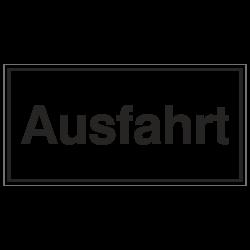 Ausfahrt, Aluminium geprägt | b2b-schilder