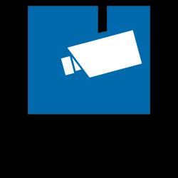 Video Infozeichen nach DIN 33450 mit Text nach Wahl in Folie oder Aluminium | b2b-schilder