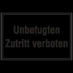 Unbefugten Zutritt verboten, Aluminium geprägt | b2b-schilder