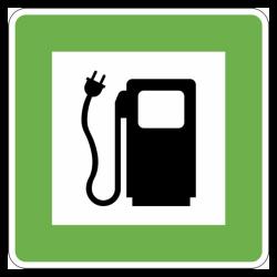 Symbol Elektrotankstelle, Schild in Aluminium 1mm | b2b-schilder