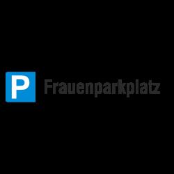Parkplatzschild Parkplatzreservierung Frauenparkplatz, Aluminium geprägt | b2b-schilder