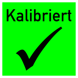 Kaibriert 40x40 tagesleuchtgrün/schwarz auf Rolle | b2b-schilder