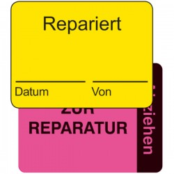 Qualitätskennzeichnung 2-teilig Repariert / zur Reparatur | b2b-schilder