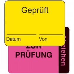 Qualitätskennzeichnung 2-teilig Geprüft / zur Prüfung | b2b-schilder