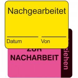Qualitätskennzeichnung 2-teilig Nachgearbeitet / zur Nacharbeit | b2b-schilder