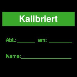 Kalibriert 40x30 grün/schwarz auf Rolle oder Bögen | b2b-schilder