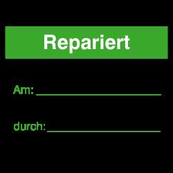Repariert 40x30 grün/schwarz auf Rolle oder Bögen | b2b-schilder