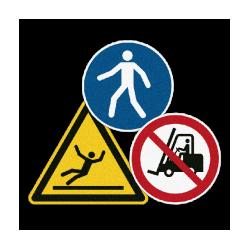 Gebotszeichen, Verbotszeichen mit Antirutschbeschichtung | b2b-schilder