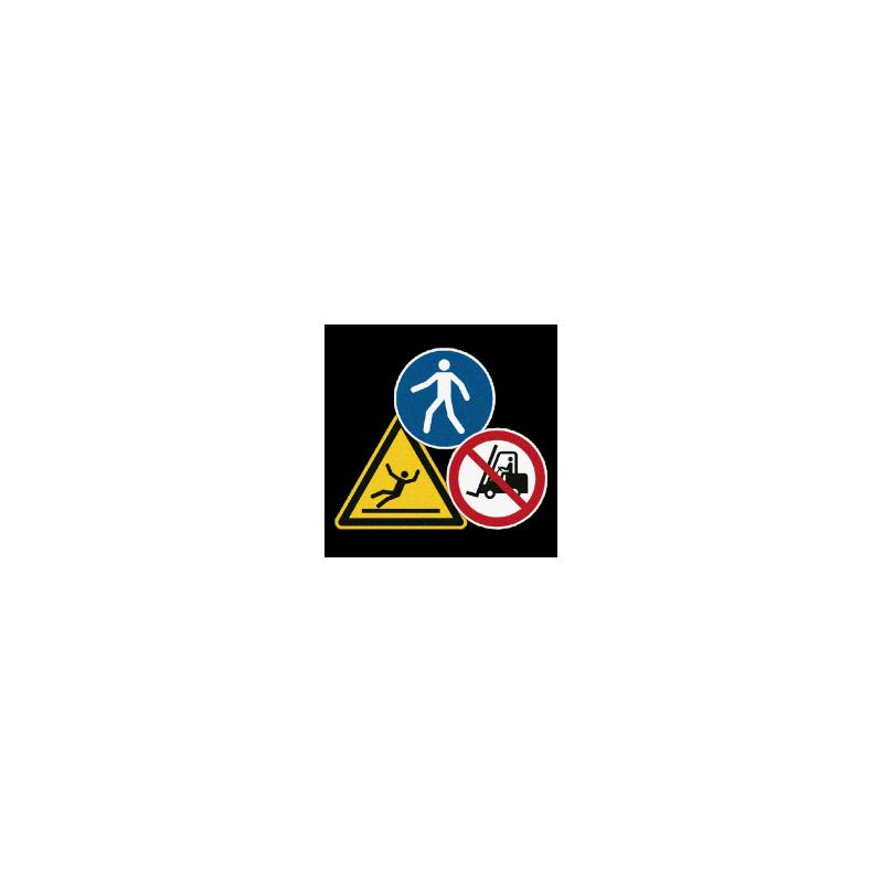 Gebotszeichen, Verbotszeichen mit Antirutschbeschichtung   b2b-schilder