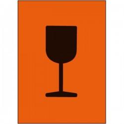 Symbol Vorsicht Glas,...