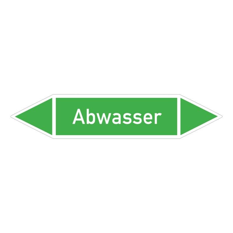 Abwasser: Pfeilschild mittel Gruppe 1 Wasser grün / weiß | b2b-schilder.de