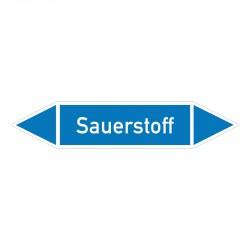 Sauerstoff: Pfeilschild mittel Gruppe 0 | b2b-schilder.de