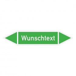 Text nach Wunsch: Pfeilschild bis Ø 40mm grün / weiß | b2b-schilder.de