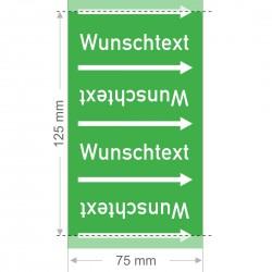 Wunschtext Rohrleitungsband Gruppe 1 | Typ 2 - 75mm breit