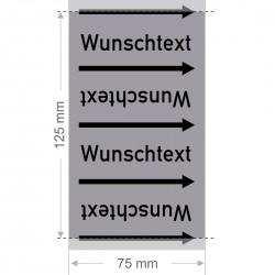 Wunschtext Rohrleitungsband Gruppe 3 | Typ 2 - 75mm breit
