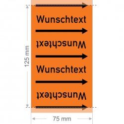 Wunschtext Rohrleitungsband Gruppe 6 | Typ 2 - 75mm breit