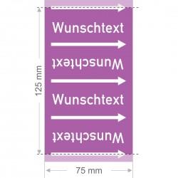 Wunschtext Rohrleitungsband Gruppe 7 | Typ 2 - 75mm breit
