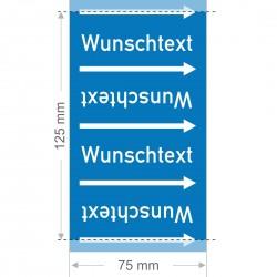 Wunschtext Rohrleitungsband Gruppe 0 | Typ 2 - 75mm breit