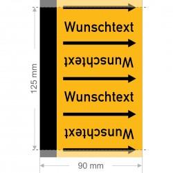Wunschtext Rohrleitungsband Gruppe 5 | Typ 2 - 90mm breit