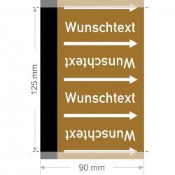 Wunschtext Rohrleitungsband Gruppe 9 | Typ 2 - 90mm breit