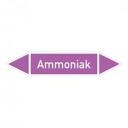 Ammoniak: Pfeilschild mittel Gruppe 7 violett / weiß | b2b-schilder.de