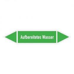 Aufbereitetes Wasser: Pfeilschild mittel Gruppe 1 Wasser grün / weiß | b2b-schilder.de
