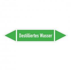 Destiliertes Wasser: Pfeilschild mittel Gruppe 1 Wasser grün / weiß | b2b-schilder.de