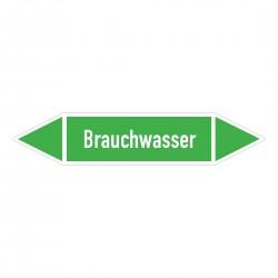 Brauchwasser: Pfeilschild mittel Gruppe 1 Wasser grün / weiß | b2b-schilder.de
