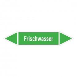 Frischwasser: Pfeilschild mittel Gruppe 1 Wasser grün / weiß | b2b-schilder.de