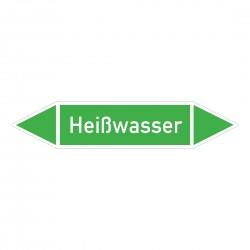 Heißwasser: Pfeilschild mittel Gruppe 1 Wasser grün / weiß | b2b-schilder.de