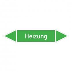 Heizung: Pfeilschild mittel Gruppe 1 Wasser grün / weiß | b2b-schilder.de