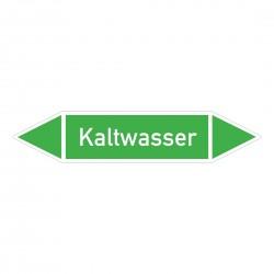 Kaltwasser: Pfeilschild mittel Gruppe 1 Wasser grün / weiß | b2b-schilder.de