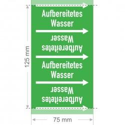 Aufbereitetes Wasser Rohrleitungsband Gruppe 1 | Typ ST - 75mm breit