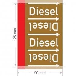 Diesel Rohrleitungsband Gruppe 8 | Typ ST - 90mm breit