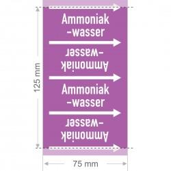 Ammoniakwasser Rohrleitungsband Gruppe 7 | Typ ST - 75mm breit