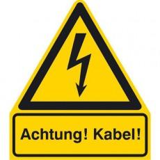 Achtung! Kabel! |Elektrozeichen B2B Schilder