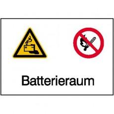Batterieraum |Elektrozeichen B2B Schilder